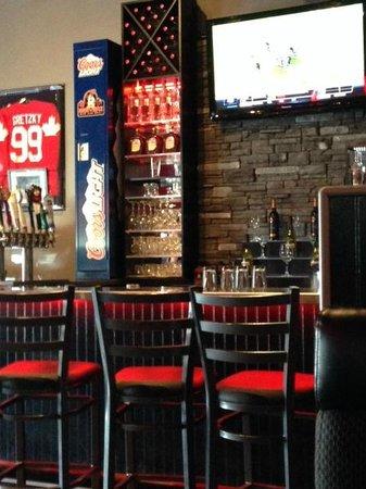 Bar area Joe Beeverz Bar & Grill     20 - 1300 18th Street, Brandon, Manitoba