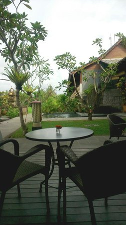 Alaya Resort Ubud: view from petani restaurant to the resort