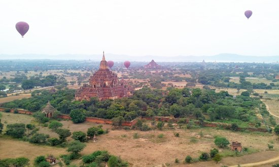 Balloons over Bagan: great view