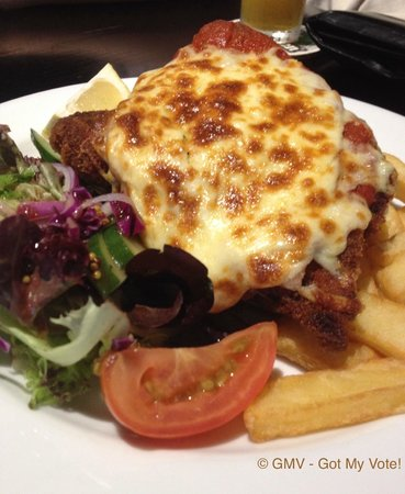 Maloney's Hotel: Chicken Schnitzel w/ thick cut chips $12.00