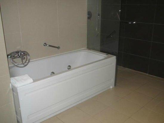 Hotel Granada Palace: Bañera de hidromasaje y otra ducha