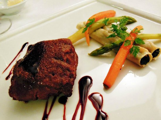 Cuisine Gourmet by Nathalie : Veal medallion with truffle cannelloni