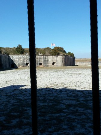 Fort Pickens: View from the holding cells