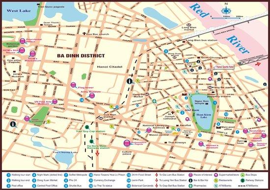 Hanoi Sports Hotel around Map - Picture of Hanoi Sports Hotel, Hanoi ...