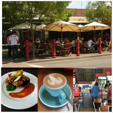 Coffee Plus cafe: Alfresco dining in the sun and enjoying Supreme Coffee