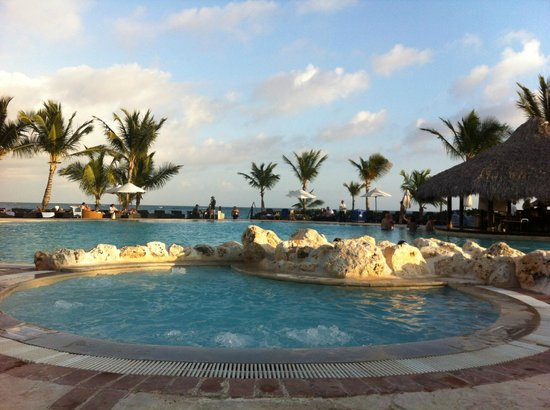 Sanctuary Cap Cana by AlSol: View from Main pool, right by the beach
