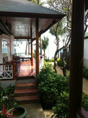 Banana Fan Sea Resort: our lovely terrace