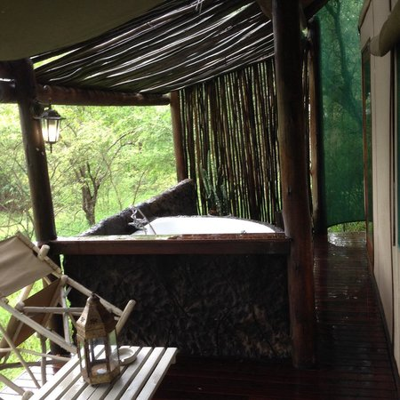 Chapungu Tented Bush Camp: The Deck on the Tent