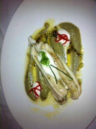 Restaurant Tri Ferala: Seabass with grean pea puree