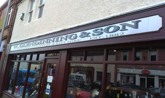 Annan, UK: New shop sign