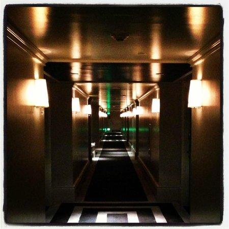 Viceroy Santa Monica: corridor - felt like twilight zone!