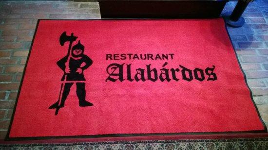 Alabardos Restaurant : Входной коврик