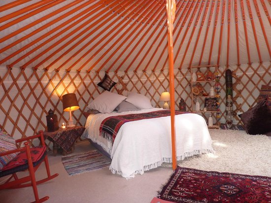 Haddon Acre: Cosy in all weathers inside the yurt