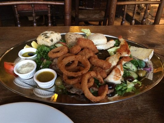 The Fauconberg Arms Restaurant: the £28 chatter platter - mums gone to iceland.