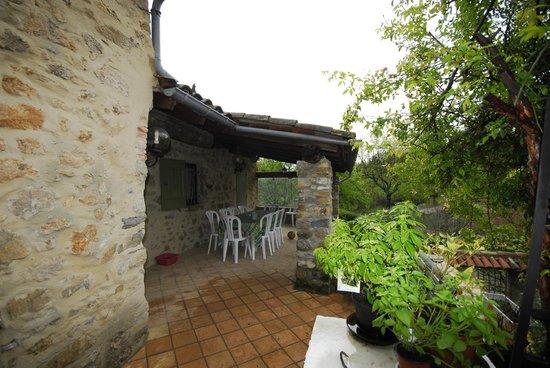 Domaine de Domanne: terrasse