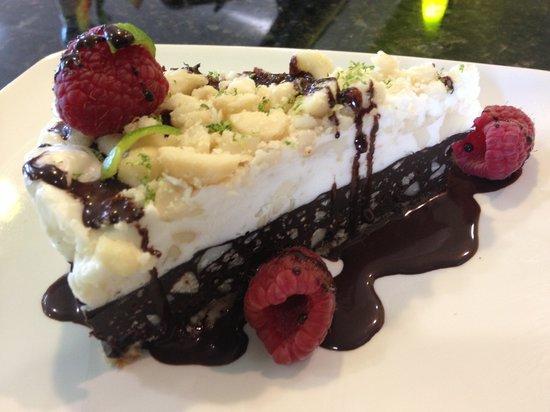 The Refectory Cafe : Dark Chocolate Macadamia Pie - Raw & Vegan