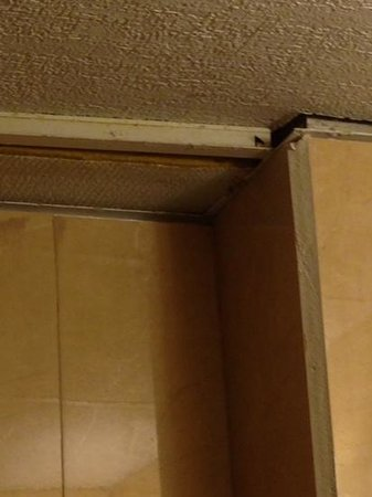 Sandy Beach Hotel: ceiling in bathroom- are ya kidding?