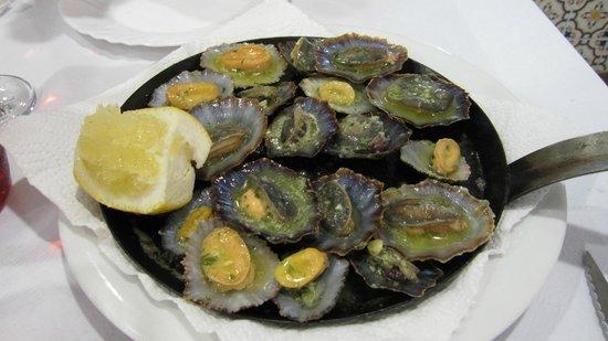 Restaurante Riviera : Lapas - de lokale muslinger med hvidløg