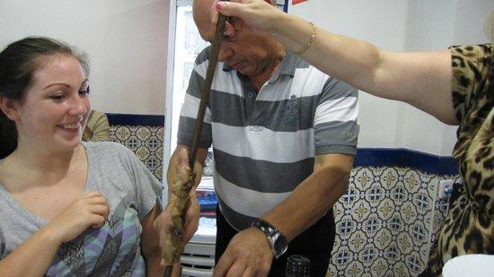 Restaurante Riviera : Oksekød på stegt træspyd