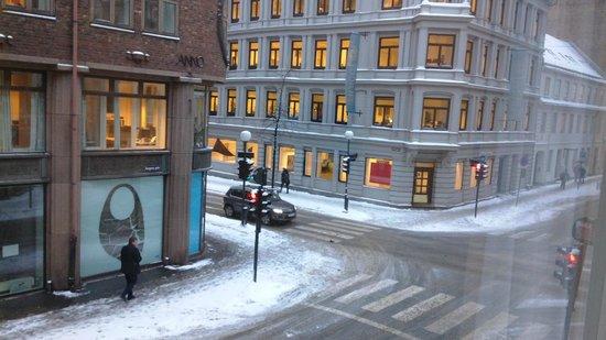 Saga Poshtel Oslo Central: вид из окна