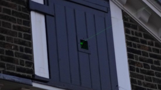 Greenwich Park : Laser simula o Meridiano de Greenwich