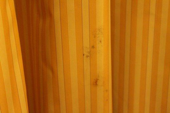 Hotel Apartamento Olhos d'Agua: Este es el estado en el que estaban las cortinas (con muchísimas manchas)