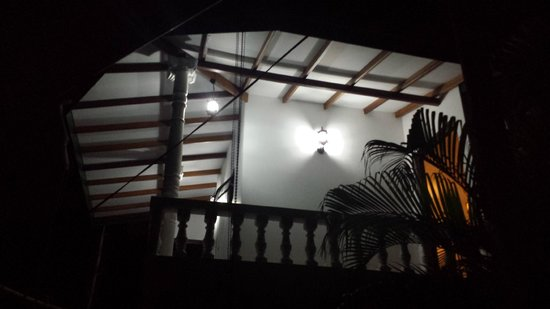 Bon Accord Guest House: Balconies at night