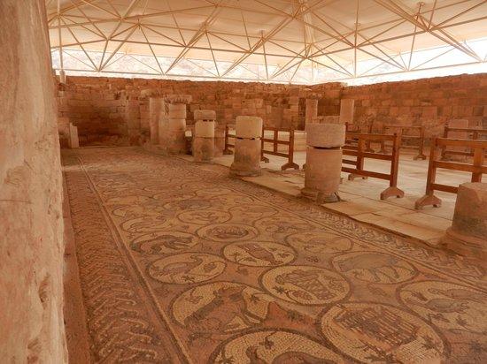 Byzantine church mosaic floor