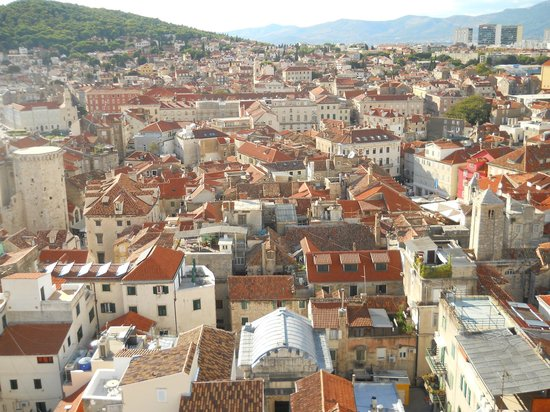 Diokletianpalast: view from cathedral belltower