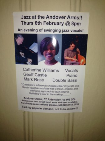 The Andover Arms: ...they have good music too!