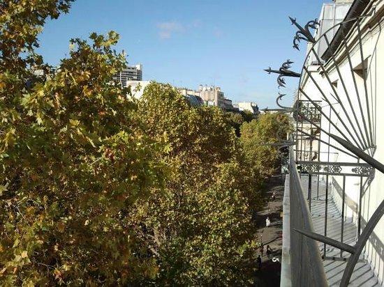 Hôtel du Prince Eugene: Vista dal terrazzino