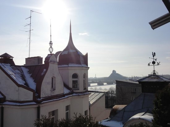 Hotel Gutenbergs : вид на старый город с террасы на крыше отеля