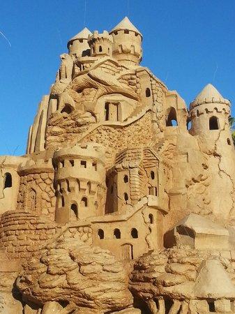 Sandcastle Lessons: Just part of south padre islands biggest castle
