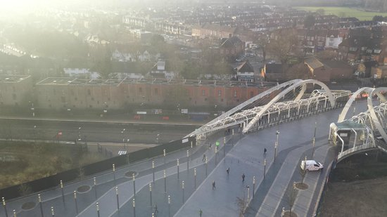 Ibis London Wembley: View from my room overlooking Wembley Stadium train station