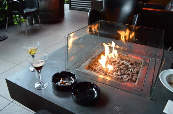 The Bunker : Gin & Espresso Martini upstairs after Dinner *Disclaimer - cigarette butts were not ours!
