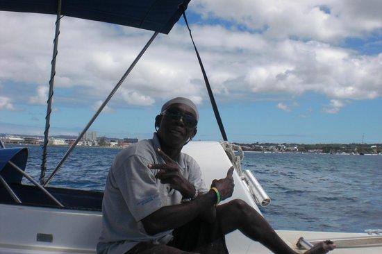 Small Cats Catamaran Sailing Cruises: Captain Charlie on Small Cats