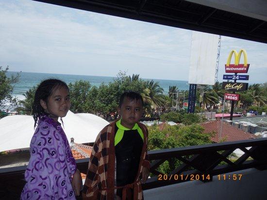 Maharani Beach Hotel: Pemandangan kamar ocean view