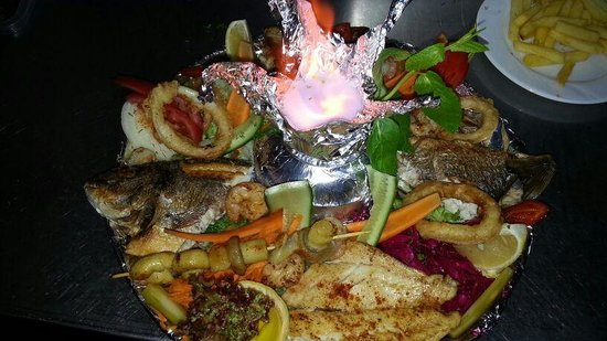 Palmiye Cafe Restaurant: Mixed sea foods plate