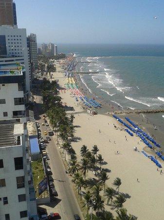 Hotel Cartagena Plaza: Vista do apartamento