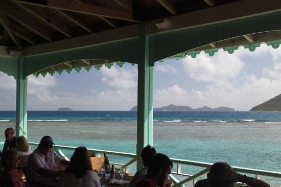 Marina Cay: Hard to keep your mind on lunch