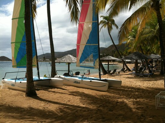 Curtain Bluff Resort: some boats waiting to be taken out