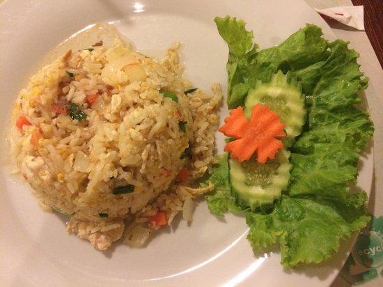 Eightfold Restaurant: Рис с курицей