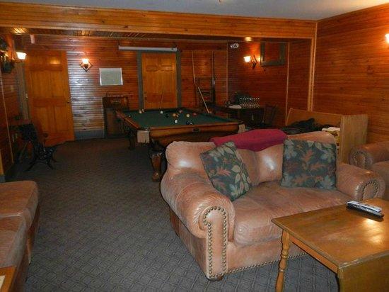 Friends Lake Inn: Billiards room