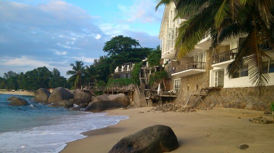 Bliss Hotel Seychelles: View from the beach