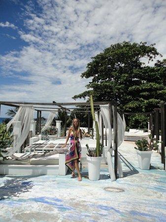 Bliss Hotel Seychelles : Terrace of restaurant/ lounge