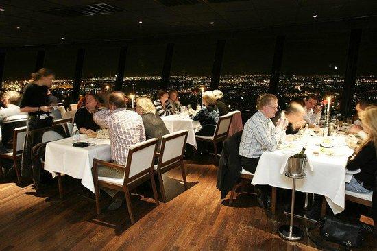 Euromast Tower: Brasserie by night