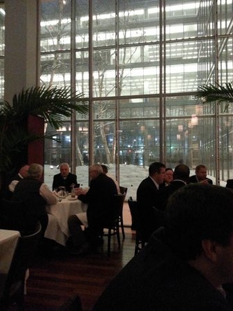 Oceana Restaurant : Interior Courtyard during recent snow storm.