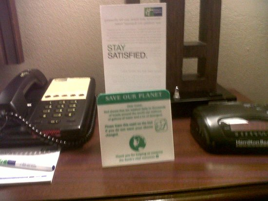 Holiday Inn Rolling Meadows - Schaumburg Area: read the by the bed side