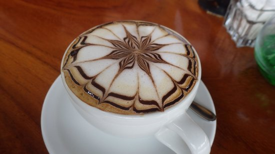 My Coffee Lounge & Restaurante: cafe con leche fabuloso!