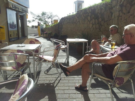 Christy's: Our sunny terrace .....